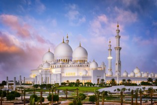 sheikh zayed grand mosque stock